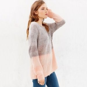 Kimchi Blue Sweaters - kimchi Blue Urban Outfitters Sweater Pink Gray